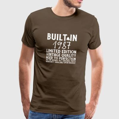 BUILT IN 1987! - Men's Premium T-Shirt