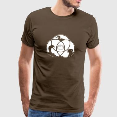 Platypus Venn Diagram - Men's Premium T-Shirt