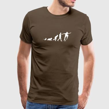 Skateboard Fun Shirt Geschenke Grow Evolution - Männer Premium T-Shirt