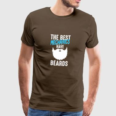 Mechanic screwdriver workshop beard gift - Men's Premium T-Shirt