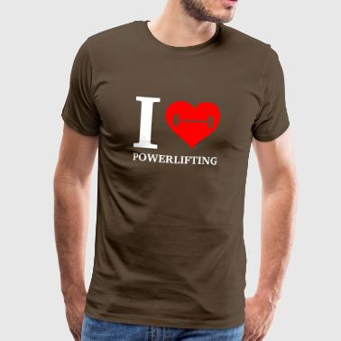 I love powerlifting - Men's Premium T-Shirt