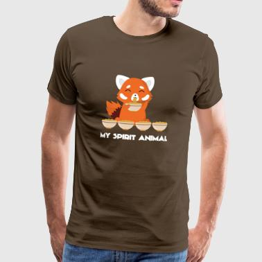 Red Panda - Spirit - Chinese - Noodle - Gift - Men's Premium T-Shirt