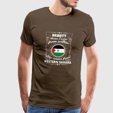 beauty comes from WESTERN SAHARA png - Men's Premium T-Shirt
