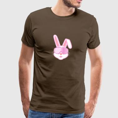 Ski hare, after ski, winter vacation, skiing - Men's Premium T-Shirt