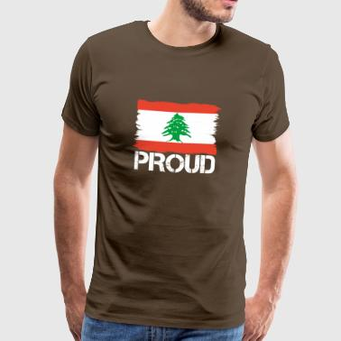 Pride flag flag home origin Lebanon png - Men's Premium T-Shirt