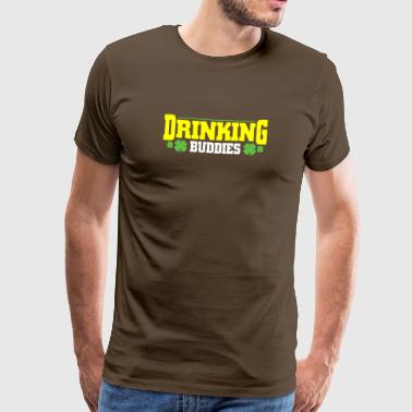 Drinking Beer Buddies St Patrick's Day T-Shirt - Men's Premium T-Shirt
