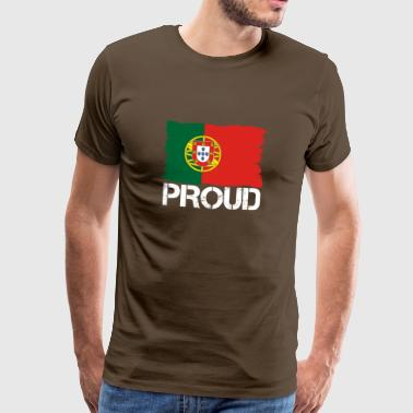 Pride flag flag home origin PORTUGAL portuge - Men's Premium T-Shirt