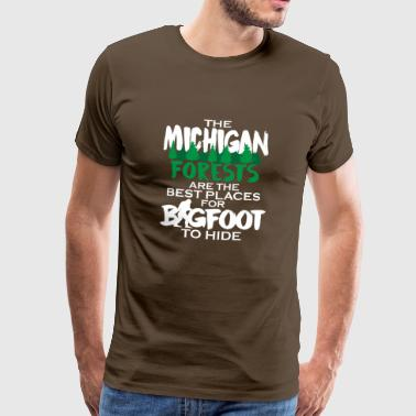 Big Foot Search Hunter Camping Monster Gift - Mannen Premium T-shirt
