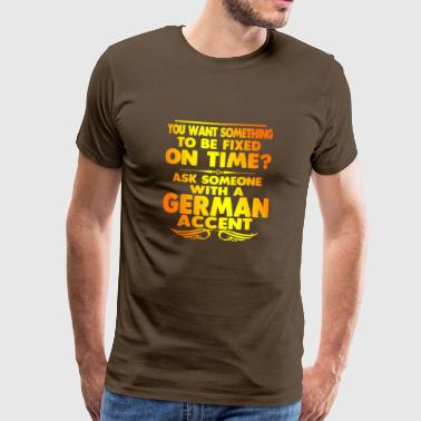 German German accent Germany gift beer - Men's Premium T-Shirt