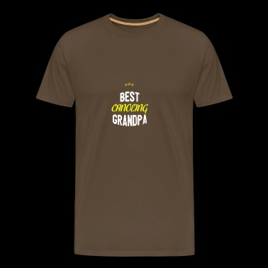 Distressed - BEST CANOE grandpa - T-shirt Premium Homme