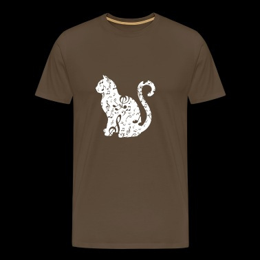Music Cat Lover - Mannen Premium T-shirt