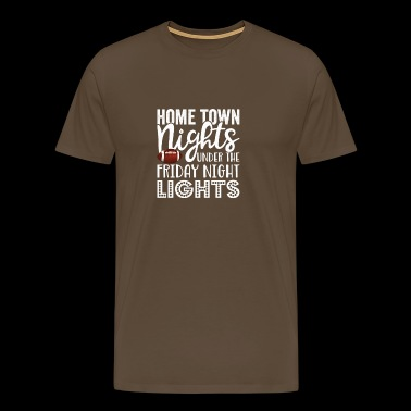 Home Town Nights unter dem Friday Night Lights Gif - Männer Premium T-Shirt