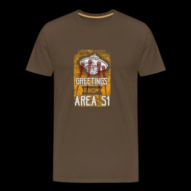 Greetings From Area 51 UFO - Männer Premium T-Shirt