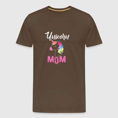 Unicorn Mom Cute Funny Unicorn - Männer Premium T-Shirt