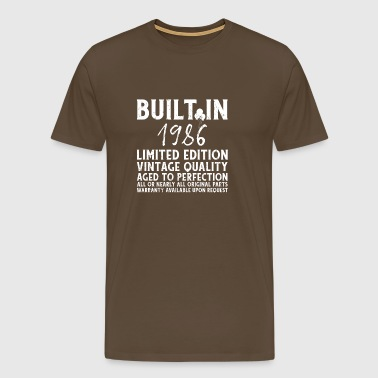 BUILT IN 1986! - Men's Premium T-Shirt