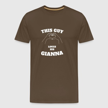 This Guy Loves His Gianna Valentine Day Gift - Men's Premium T-Shirt