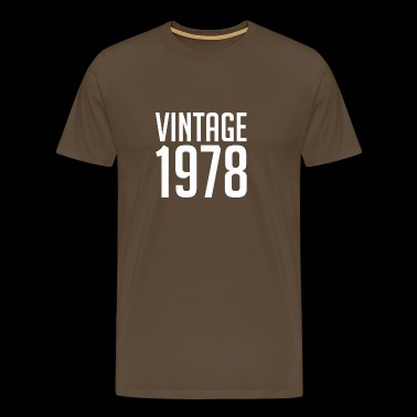 Vintage 1978 40th Birthday | 40 Years Years Old 40 - Camiseta premium hombre