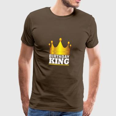 Gold Crown Birthday King Birthday Child King - Men's Premium T-Shirt