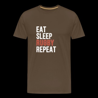 Eat sleep Rugby Repeat - Funny Gift - Männer Premium T-Shirt