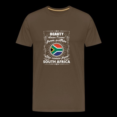 beauty comes from SOUTH AFRICA png - Men's Premium T-Shirt