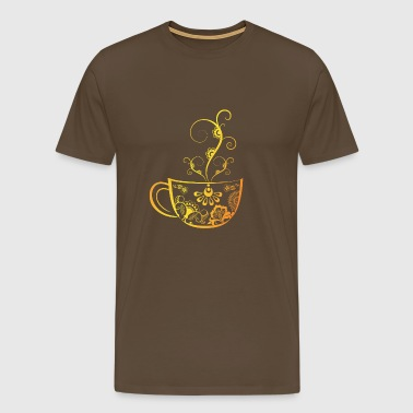Coffee - coffee cup - gift - coffee drinker - Men's Premium T-Shirt