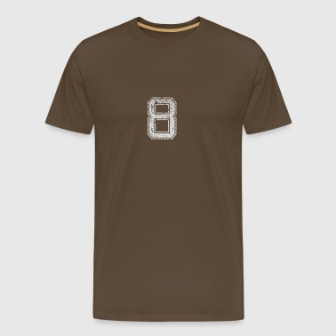 Number 8 Number Eight Gift - Men's Premium T-Shirt