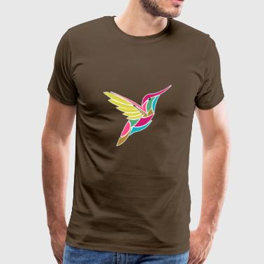 Colorful hummingbird in geo style abstract gift idea - Men's Premium T-Shirt