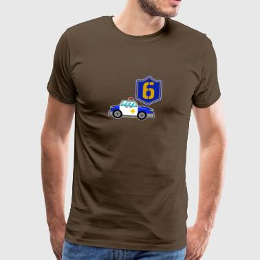Happy 6th Birthday Police Car - Men's Premium T-Shirt