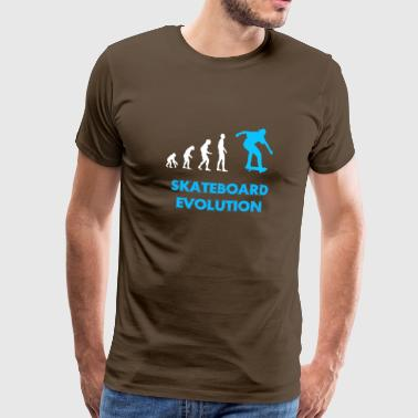Skateboard Evolution / gave - Premium T-skjorte for menn