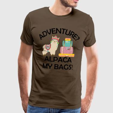 Adventure? Alpaca mine poser - Premium T-skjorte for menn