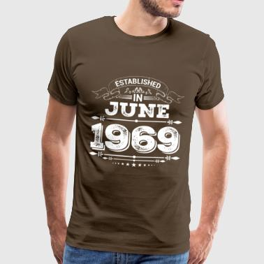Established in June 1969 - Men's Premium T-Shirt
