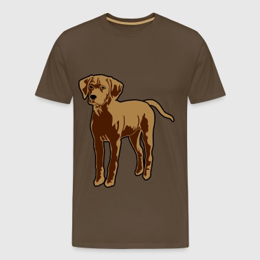 Dog Puppy - Herre premium T-shirt