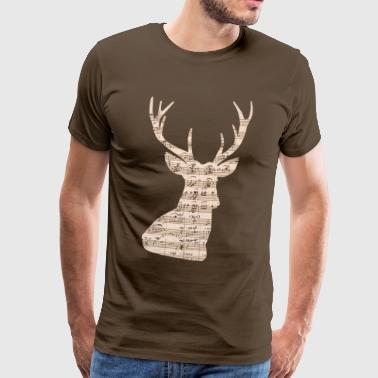 Limited edition music deer notes - Men's Premium T-Shirt