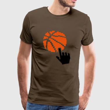 basketball piksel pekeren Main2 ball b - Premium T-skjorte for menn