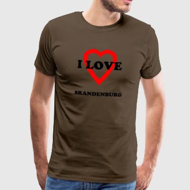 I LOVE BRANDENBURG - Men's Premium T-Shirt