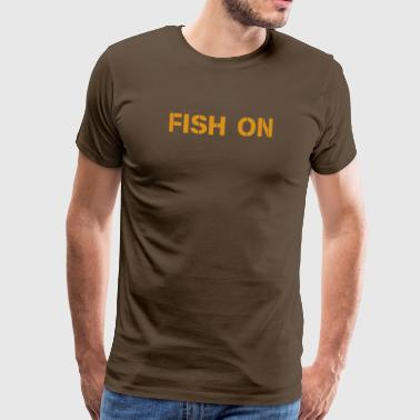 fish on scripture orange - Men's Premium T-Shirt