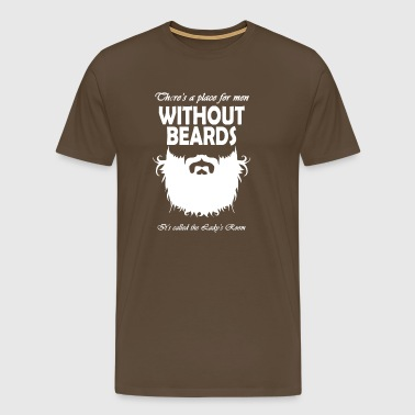 Without beards - Men's Premium T-Shirt