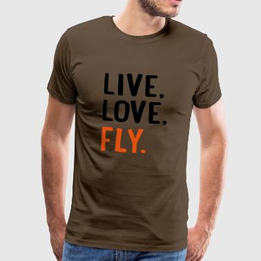 6254398 115294599 fly - Men's Premium T-Shirt