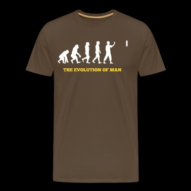 Darts - Evolution - Funny - Gift - Men's Premium T-Shirt