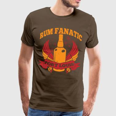 T-shirt Rum Fanatique - Port Louis, Ile Maurice - T-shirt Premium Homme