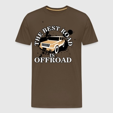 The best road is offroad - Premium-T-shirt herr