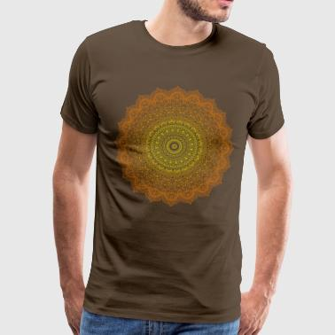 Yogi, Prana mandala orange - Men's Premium T-Shirt