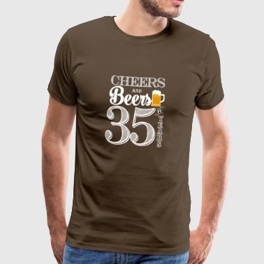 Cheers and Beers To 35 Years - Men's Premium T-Shirt