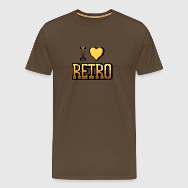 I love RETRO yellow - Men's Premium T-Shirt