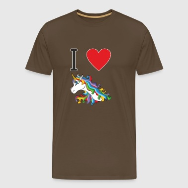I love cute, colorful, cute unicorns. - Men's Premium T-Shirt