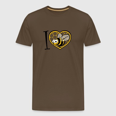 I LOVE bee s - T-shirt Premium Homme