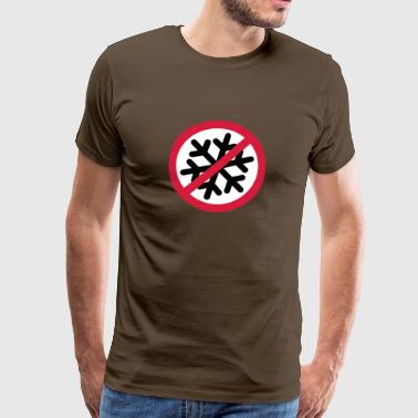 Anti Schnee | Anti Snow - Premium-T-shirt herr