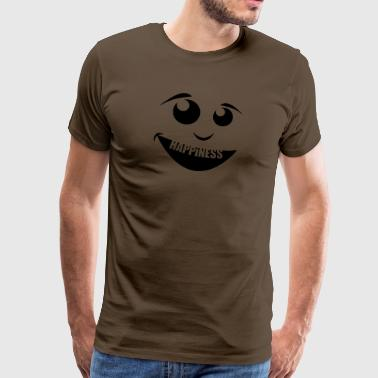 Happiness - Mannen Premium T-shirt