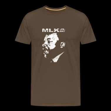 Martin Luther King Jr. Day with MLK's face - Men's Premium T-Shirt