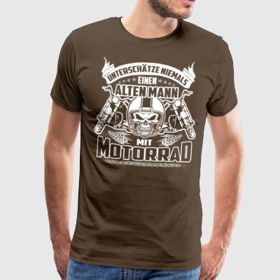 Design ancien motocycliste - T-shirt Premium Homme